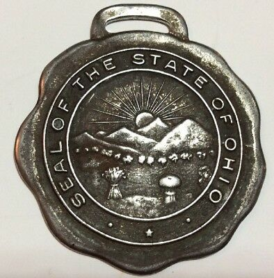 RARE Ohio State Seal WATCH FOB MEDAL   Vintage