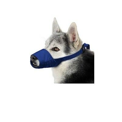 Quick Muzzle for Dogs - XLarge Blue Safety Adjustable straps quick release