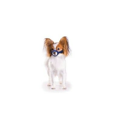 Quick Muzzle for Dogs - XSmall Blue Adjustable straps Efficient