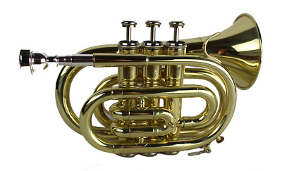 Pocket Trumpet Outfit - School Trumpet - Including Case Great Quality