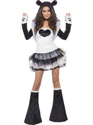 SALE Adult Sexy Animal Fever Panda Ladies Fancy Dress Hen Party Costume Outfit