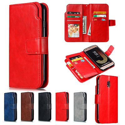 For Samsung Galaxy A3 A5 J3 J5 J7 2017 Flip Leather Case Card Wallet Stand Cover