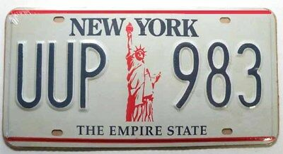 Plaque d Immatriculation New York ( Rep - 001 )