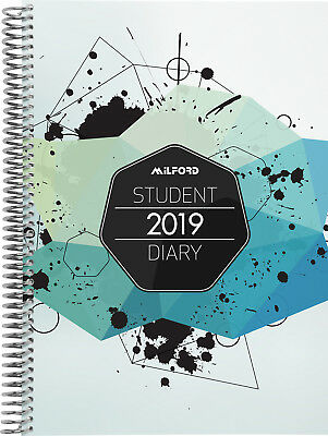 Diary 2019 Milford Students A5 Week to View Wiro 441412 inc. Postage