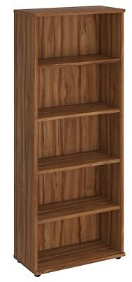 NOVA Aspire Low 2000mm Bookcase, WALNUT