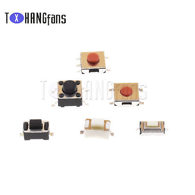3X6X2.5mm-6X6X5mm 2-4Pins Panel PCB SMD SMT Push Button Tactile Switch ATF