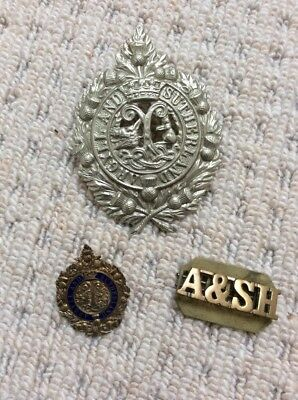 THE ARGYLL AND SUTHERLAND HIGHLANDERS ARMY BADGE DETAIL LEATHER KEYRING KEY FOB