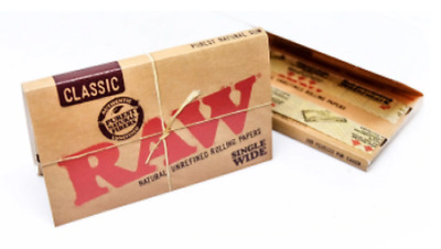 RAW Classic Single Wide - 1 PACK - Rolling Papers Natural Gum Unrefined Vegan