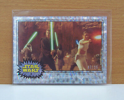 Journey to Star Wars Force Awakens Holofoil card #9 The Battle of Geonosis 7/25