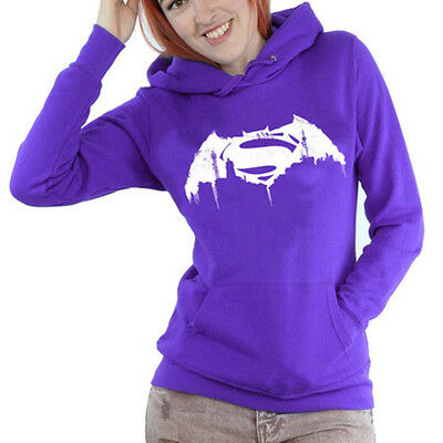 DC Comics Women's Batman v Superman Beaten Logo Purple Official Licensed