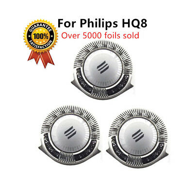 3x Quality Philips Norelco Replacement HQ8 Shaver Head Razor Blades Cutter UK