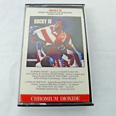 Rocky IV Cassette Tape Original Motion Picture Soundtrack 1985 Canada CrO2