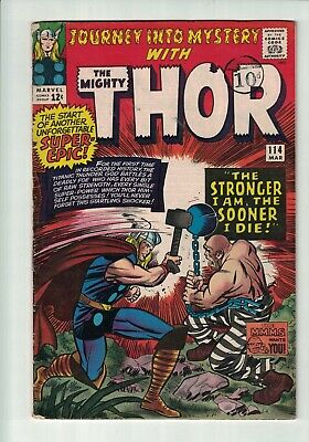 Marvel Comics Journey into Mystery The Mighty Thor #114 March 1965