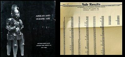 Sotheby's African & Oceanic Art Ny 3/24/79  Sale Code 4227   Hj 1