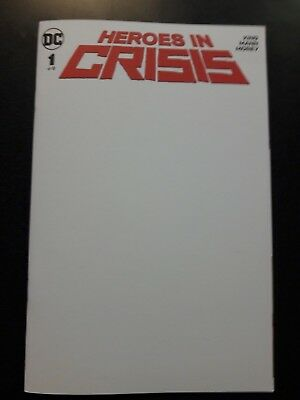 HEROES IN CRISIS #1 Blank Sketch Variant Comic Book NM DC Tom King KEY DEATH OF