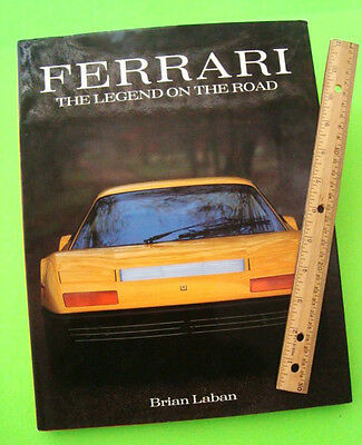 FERRARI - THE LEGEND ON THE ROAD by Laban FERRARI ROAD CARS H-C w/ DJ 1948-1990