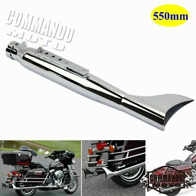 550mm Fishtail Right Exhaust Muffler Pipe Slip-On Silencer For Harley Davidson
