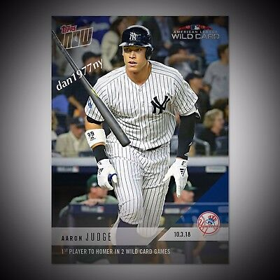 2018 Topps Now Card #835 - Aaron Judge 1St To Homer In 2 Wild Card Games