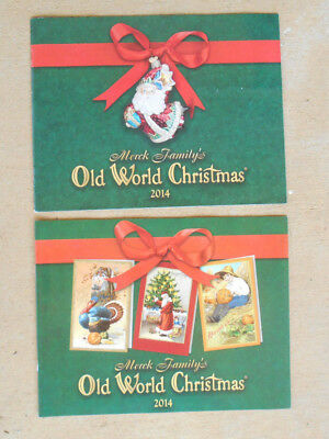 Old World Christmas 2014 Collectors Guides Cards and ornaments Set of 2