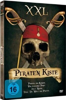 Piratenkiste - 3 Piraten Filme 2 DVD Box NEU Action Abenteuer + Doku 379 Min