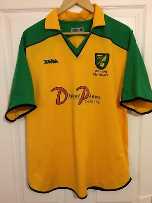 2001/2003 Norwich City home Centenary football shirt Xara large men's