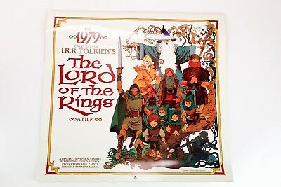 1979 CALENDAR of J.R.R. TOLKIEN'S LORD OF THE RINGS FILM INFAMOUS RALPH BAKSHI