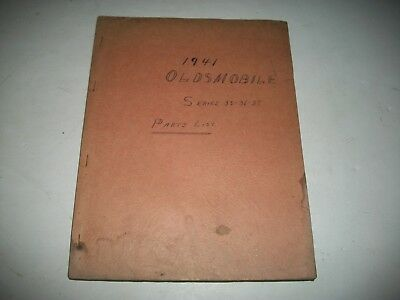 1941 Oldsmobile Series 35-36-39 Early Issue Chassis Parts Catalog