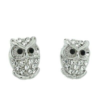 Owl Earrings Made With Swarovski Crystal Smart Wise Stud Jewelry Gift