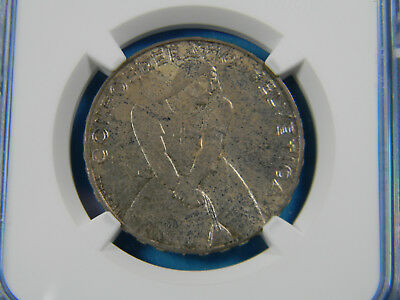 Switzerland 1939 B  5 Francs Silver Laupen Anniversary NGC unc details stained