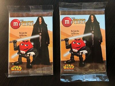 M&M The Star Wars Mpire Episode III Collectors Cards X2 (2005) MINT
