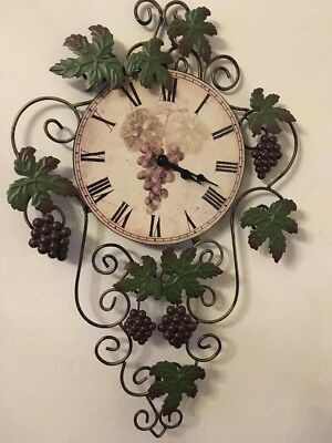 Vintage Metal Wall Art Kitchen Clock French Country Kitchen Style