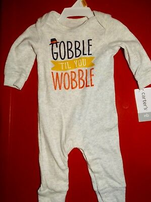 458cf2b08095 CARTERS NEWBORN BOYS Long Sleeve Outfit Thanksgiving Size Nb Nwt ...