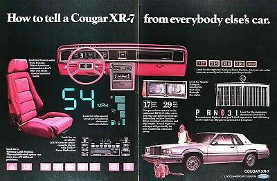1980 MERCURY COUGAR XR-7 Genuine Vintage Advertisement