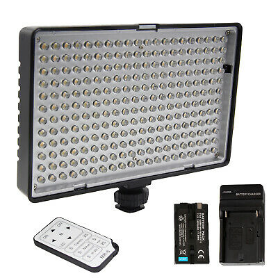Dimmable 240 LED Video Light on Camera LED Panel with Battery Charger Remote