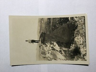 vintage post cards from Fort Union Trail ND stamped Nov 12 1929 Balanced Rock