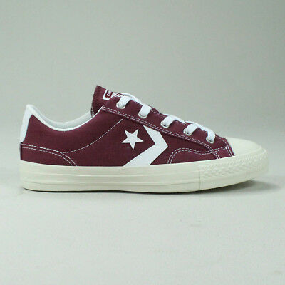 CONVERSE STAR PLAYER Ox Shoe Trainers in Burgundy Size UK