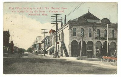 Northfield Minnesota First National Bank Jesse James Gang 1907