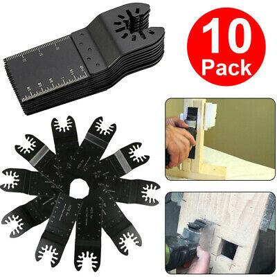 10Pcs Universal 34mm oscillating Multi tool saw blades Carbon Steel Cutter DIY