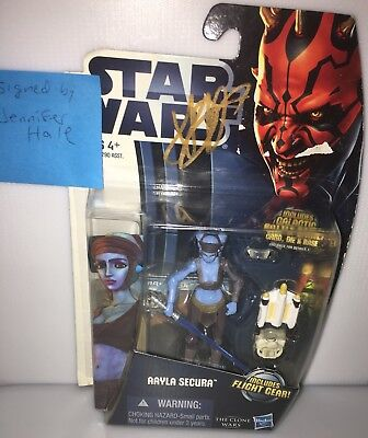 Autographed Star Wars Clone Wars Aayla Secura Signed Voice Actress Jennifer Hale