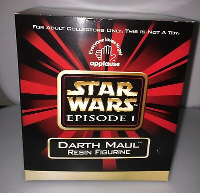 Mint Applause Star Wars Darth Maul Resin Figure 61760 Rare Collectible Unopened