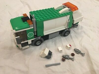 4432 Lego Garbage Truck Complete City Town Green Recycle Town Street