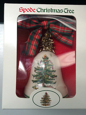 Spode 1998 Christmas Tree  Bell Ornament Nib