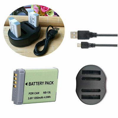 NB-13L Battery for Canon PowerShot SX720, SX730 G3X G7X, G7XII ,G9X /USB Charger