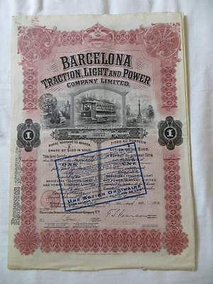 Barcelona Traction Light and Power Company 100 $