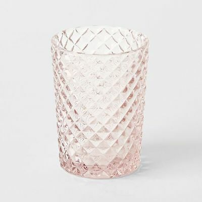 NEW Pink Cut Glass Tumbler