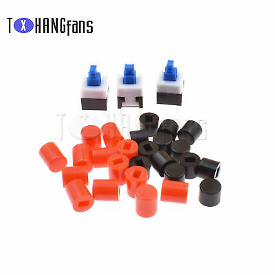 8X8mm Cap Self-locking/Without Lock Type Blue Button Control Switch DIP-6Pin ATF