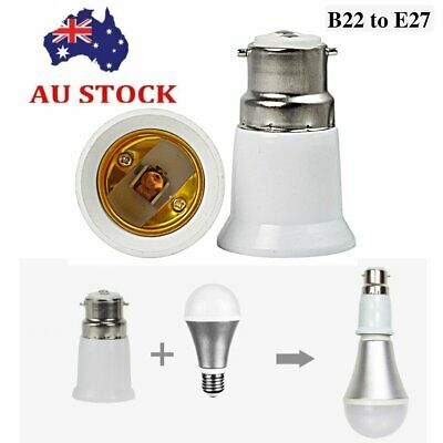 B22 to E27 Bulb adapter Light Lamp Base Edison Screw Bayonet Converter Adapter