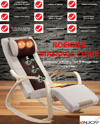 Electric Neck Back Vibration Full Body Massage Rocking Massage Chair with Heat