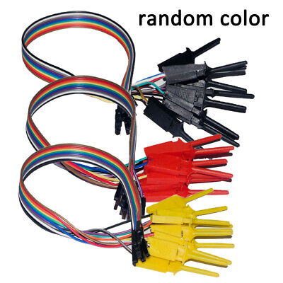 10 Test Hook Clips High Efficiency Logic Analyzer 10 way Cable Gripper Probe Kit