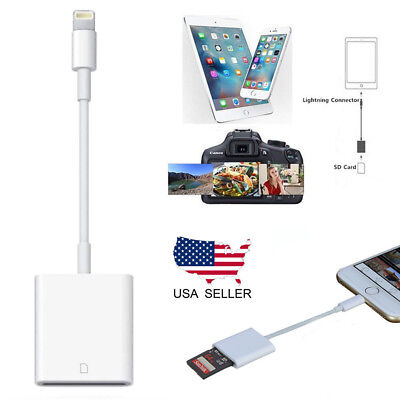 NEW Camera SD Card Reader Adapter Cable for iPhone 6S 7Plus Apple iPad Pro Air